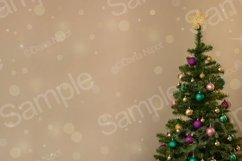 Christmas tree on neutral background with sparkles Product Image 1