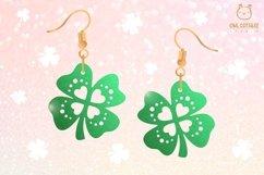 St.Patricks Day Clover Earrings SVG, Shamrock Earrings svg Product Image 5