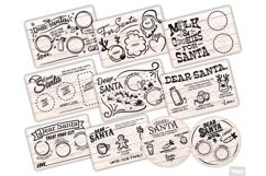 Santa Tray SVG Bundle Christmas with PNG, DXF, EPS, JPG Product Image 1