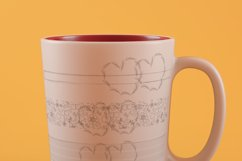 Hearts and seamless pattern from simple elements Product Image 2