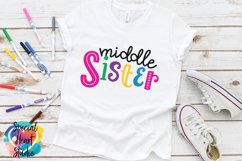 Middle Sister - A family and sibling SVG Product Image 1