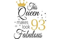 Birthday Svg, 93 Birthday svg, 93 Birthday clipart, happy bi Product Image 2