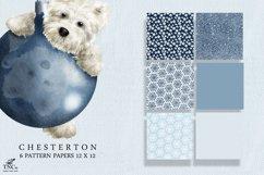 Westie Dog Illustration Set + Bonus Patterns & Alphabet Product Image 5