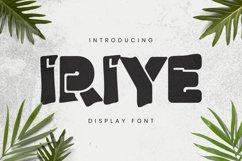 Iriye Font Product Image 2