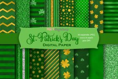 St. Patrick's Day Digital Paper Pack Product Image 1