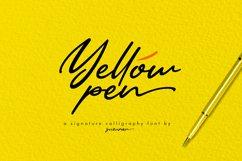Yellow Pen Script Product Image 1