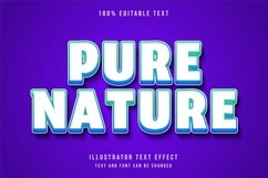 Pure nature - Text Effect Product Image 1