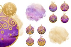 Christmas Balls Ornament Clipart Set Product Image 4