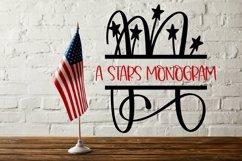 Web Font A Stars Split American Monogram Font Product Image 4