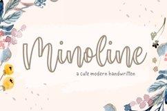 Minoline Cute Modern Calligraphy Font Product Image 1