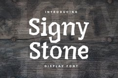 Web Font Signy Stone Font Product Image 1