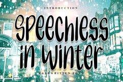 Speechless in Winter | Handwritten Font Product Image 1
