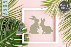 Bunny SVG | Easter | Rabbit Silhouette Product Image 1
