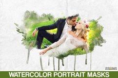 20 Beautiful portrait paint masks, photo frame, Photoshop Product Image 1