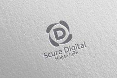 Secure Digital Letter D Digital Marketing Logo 80 Product Image 5