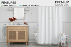 Bath Curtain Mockup Pack Product Image 6