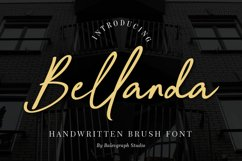 Bellanda Handwritten Brush Font Product Image 1