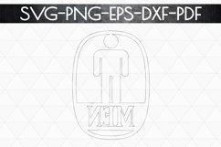 Men Sign Papercut Template, Toilet Decor, SVG, PDF, DXF Product Image 6
