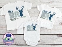 Deer Themed Big Brother Sibling Design Product Image 2