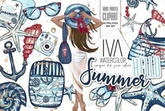 Summer Clipart, Nautical Clip Art Product Image 1