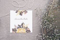 Watercolor boho flowers and crystals Product Image 5