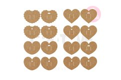 16 Templates Heart Hair Bow Display Card   BDC009 Product Image 1