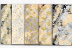 Gold Damask Digital Papers, Grunge, Damask Seamless Patterns Product Image 3