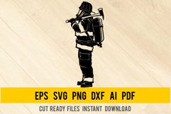 Fireman SVG - Firefighter Svg, Fire Department, Firefighting Product Image 1