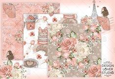 Paris je t'aime digital paper pack Product Image 4
