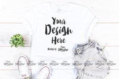 White Bella Canvas 3001 T Shirt Mockup Product Image 1