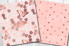 Rose Gold Butterfly Pattern Collection Product Image 3
