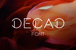 DECAD font Product Image 3