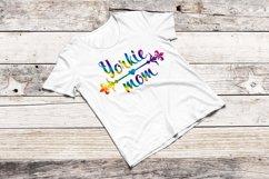 Yorkie mom svg Morkie Wall art print Rainbow cut file Product Image 1