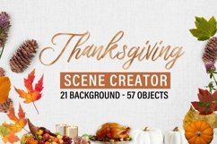 Autumn and Thanksgiving scene creator Product Image 1