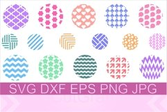 Keychain Round Pattern SVG PNG DXF Product Image 1