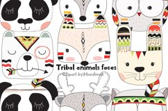 Tribal animals faces clipart Product Image 1