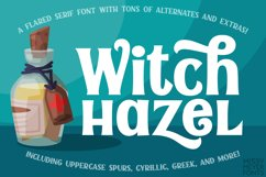Witch Hazel - a fun flared serif font for all occasions! Product Image 1