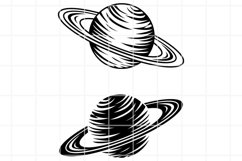 Saturn SVG. Saturn cut file. Planet svg. Planet clip art. Product Image 1