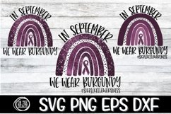 SVG -PNG-In September-We Wear Burgundy-Sickle Cell Awareness Product Image 1