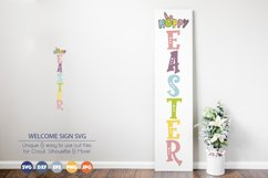 Hoppy Easter SVG | Welcome Sign SVG Product Image 1