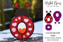 Love bug, Lady bird Easter egg holder design SVG / DXF / EPS Product Image 1