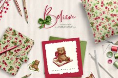 Children Christmas Clipart and Pattern seamless paper tiles. Product Image 2