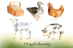 Watercolor clipart FARM life Product Image 2