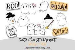 Halloween Ghost Clipart - Set of 10 - Digital Scrapbook Product Image 1