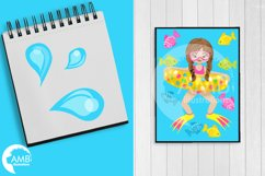 Pool party Mega clipart, graphics pack AMB-903B Product Image 5