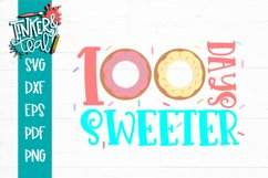100 Days Sweeter Donut School SVG Product Image 2