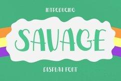 Web Font Savage Font Product Image 1