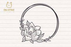 Magnolia mini Bundle SVG, Floral Monograms Cut Files, Weddin Product Image 6
