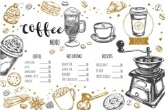 Coffee and bakery illustrations with menu templates Product Image 3