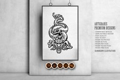 Silhouette Angry Oriental Dragon Culture SVG Illustrations Product Image 4